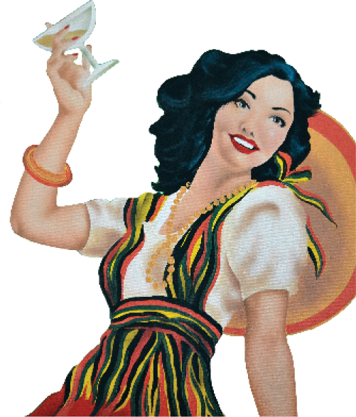 Molina's Cantina graphic of cantina girl