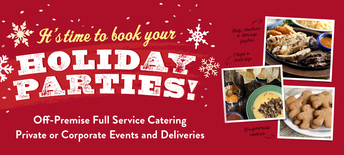 Book your Holiday Party with Molina's off-premise full service catering